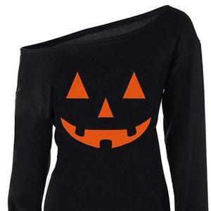 Halloween off the shoulder sweatshirt